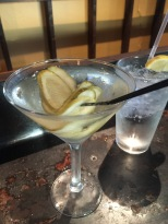 Pickle Martini at Boure or as I think of it Dirty gone Southern