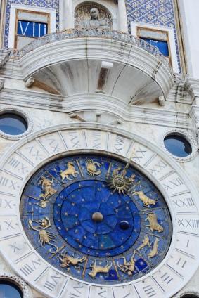 The famous zodiac clock in Saint Mark's Square