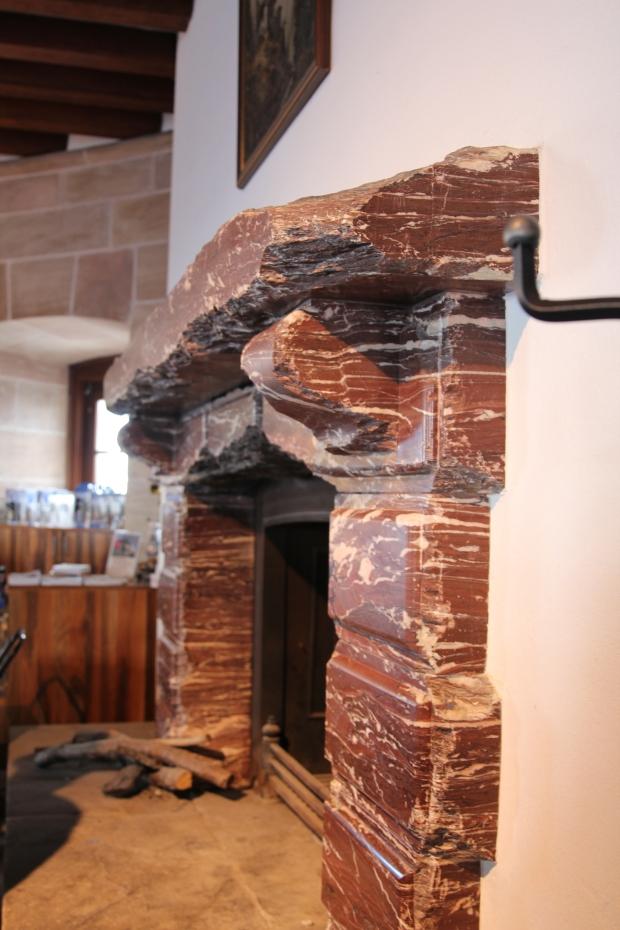 Fireplace inside Eagle's Nest