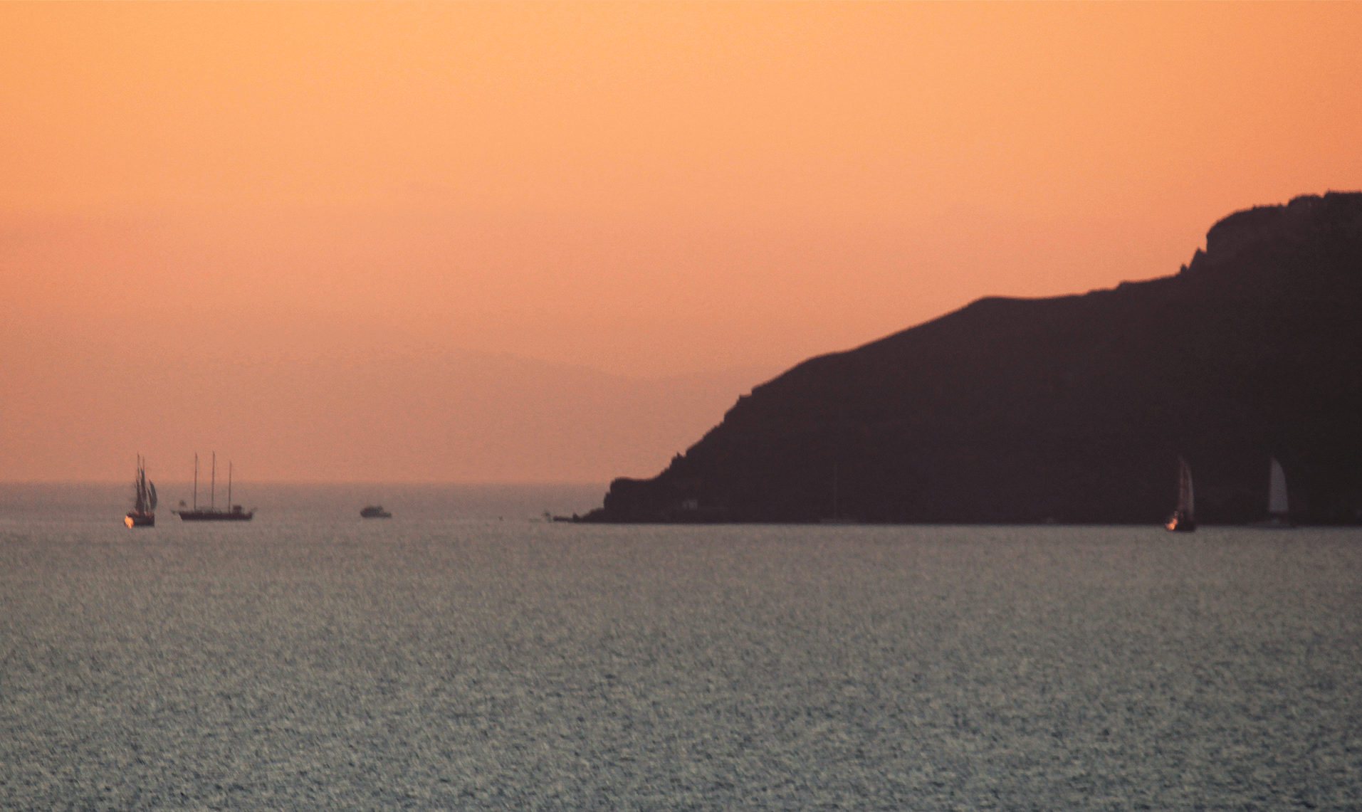 Santorini Sunset and the Sea