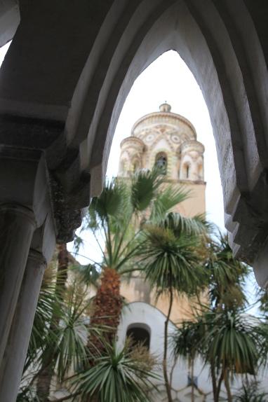 Majolica tiles grace Amalfi's bell tower.