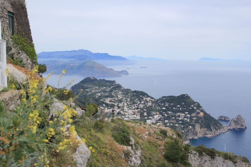 The view from the highest point on the Isle of Capri, Mt. Solaro and 1.932 feet above the sea.